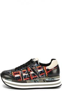 Комбинированные кроссовки Beth на платформе Premiata