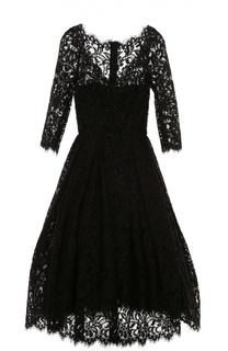 Кружевное платье с укороченным рукавом и пышной юбкой Dolce & Gabbana