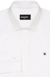 Хлопковая сорочка с вышивкой на груди Dsquared2