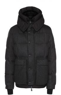 Утепленная шерстяная куртка с манжетами Moncler