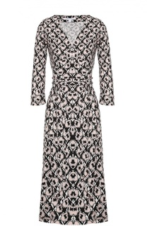 Шелковое платье с запахом и поясом Diane Von Furstenberg