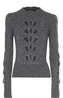 Приталенный укороченный пуловер с перфорацией Isabel Marant