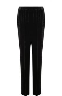 Бархатные брюки прямого кроя с эластичным поясом Stella McCartney