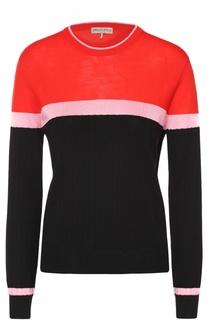 Шерстяной пуловер прямого кроя с круглым вырезом Emilio Pucci