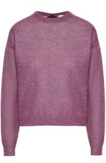 Пуловер прямого кроя со спущенным рукавом и лентой на спинке Moncler