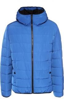 Утепленная куртка на молнии с капюшоном Moschino