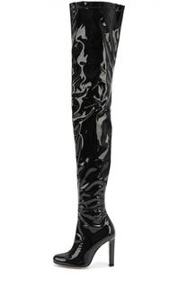 Лаковые ботфорты на высоком каблуке Brian Atwood