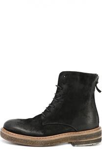 Кожаные ботинки на массивной подошве Marsell