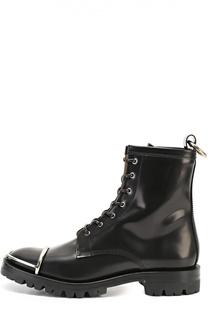 Кожаные ботинки с металлической вставкой на мысе Alexander Wang