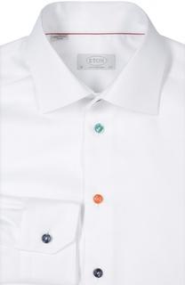 Полуприталенная сорочка с разноцветными пуговицами Eton