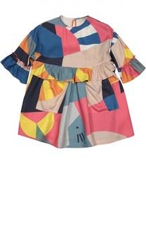 Платье свободного кроя с ярким принтом Stella McCartney