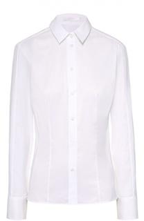 Приталенная хлопковая блуза HUGO