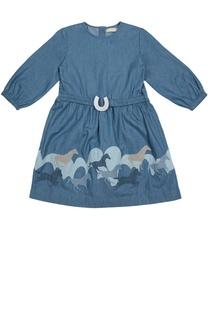 Платье из биохлопка с аппликацией Stella McCartney