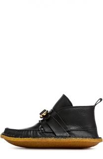 Кожаные ботинки с ремешком Chloé