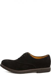 Замшевые оксфорды на шнуровке Giorgio Armani