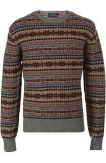 Шерстяной пуловер с рисунком Polo Ralph Lauren