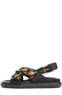 Текстильные сандалии Fussbett с декором Marni