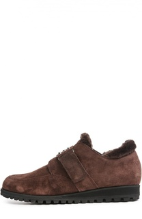 Замшевые ботинки Furgoodness с ремешком Stuart Weitzman