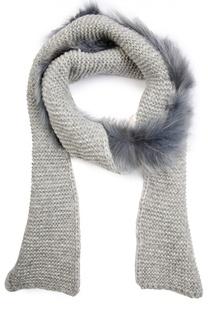 Вязаный шарф с отделкой из меха Inverni
