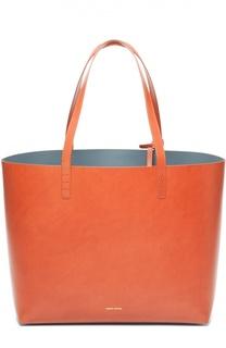 Кожаная сумка-шоппер с косметичкой Mansur Gavriel
