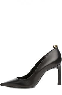 Кожаные туфли на фигурном каблуке Lanvin