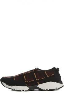 Текстильные кроссовки с принтом Marni