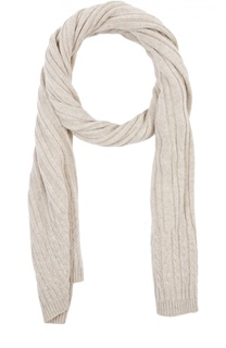 Кашемировый шарф фактурной вязки Johnstons Of Elgin
