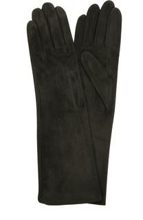 Удлиненные замшевые перчатки Agnelle