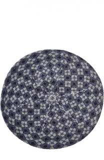 Вязаная шапка с геометрическим узором Giorgio Armani