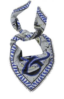 Платок с принтом из смеси шерсти и шелка Emilio Pucci