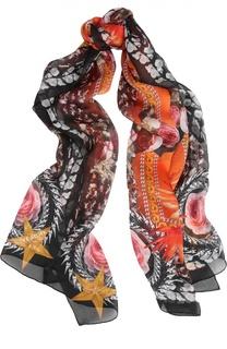 Шелковый палантин с принтом Givenchy