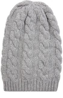 Кашемировая шапка  с рельефным узором TSUM Collection
