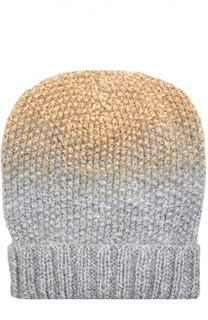 Двухцветная вязаная шапка Asha Eugenia Kim