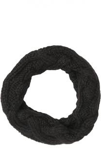 Шерстяной шарф-снуд крупной вязки Eugenia Kim