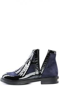 Комбинированные ботинки с бахромой Aperlai