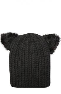 Шерстяная шапка с отделкой из меха норки Eugenia Kim