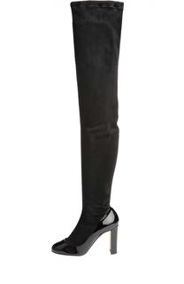 Замшевые ботфорты Vally на устойчивом каблуке Dolce & Gabbana