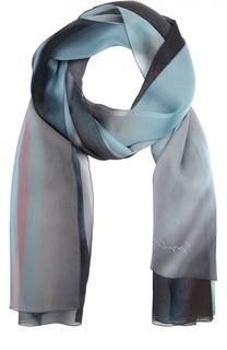 Шелковый шарф с принтом Giorgio Armani