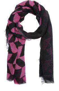 Кашемировый шарф с принтом Giorgio Armani