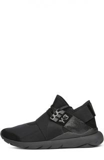 Текстильные кроссовки с кожаной отделкой Y-3