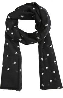 Шарф с вышивкой в виде звезд Saint Laurent