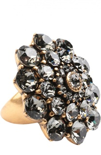 Кольцо с кристаллами Oscar de la Renta
