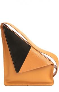 Треугольная сумка из комбинированной кожи J.W. Anderson