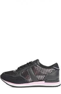 Комбинированные кроссовки на рифленой подошве DKNY