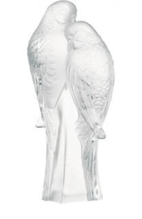 Скульптура 2 Parakeets Lalique
