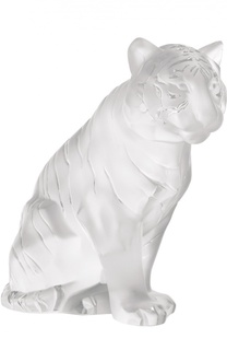 Скульптура Sitting Tiger Lalique