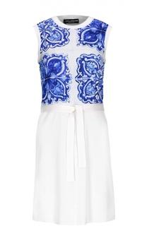 Вязаное платье с поясом Dolce & Gabbana