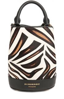 Рюкзак с отделкой из меха с принтом Burberry Prorsum
