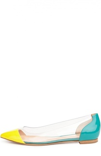 Лаковые балетки Plexi с зауженным мысом Gianvito Rossi