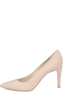 Замшевые туфли с асимметричным вырезом Giorgio Armani